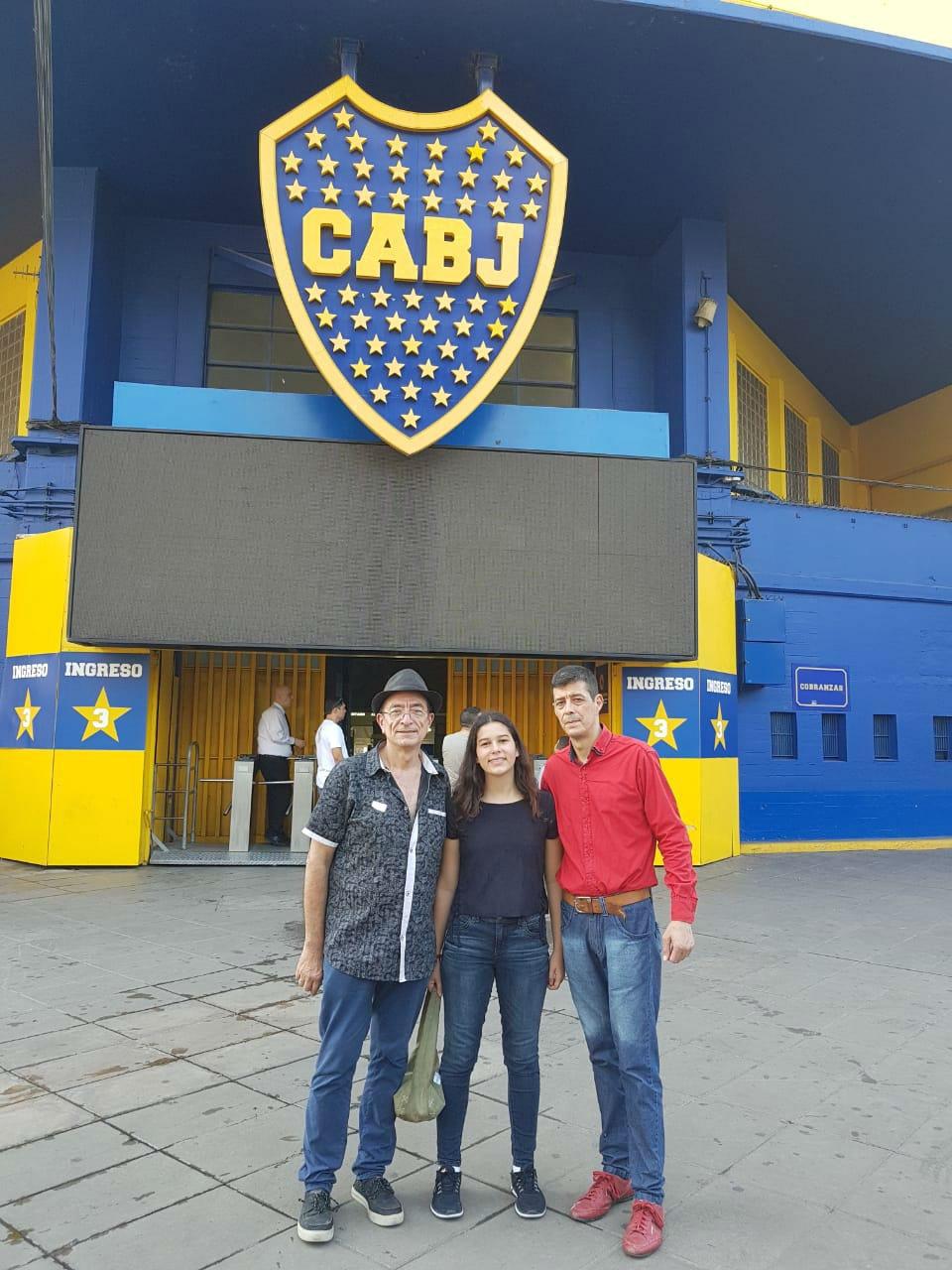 El entrerriano también asiste a la Bombonera con su familia