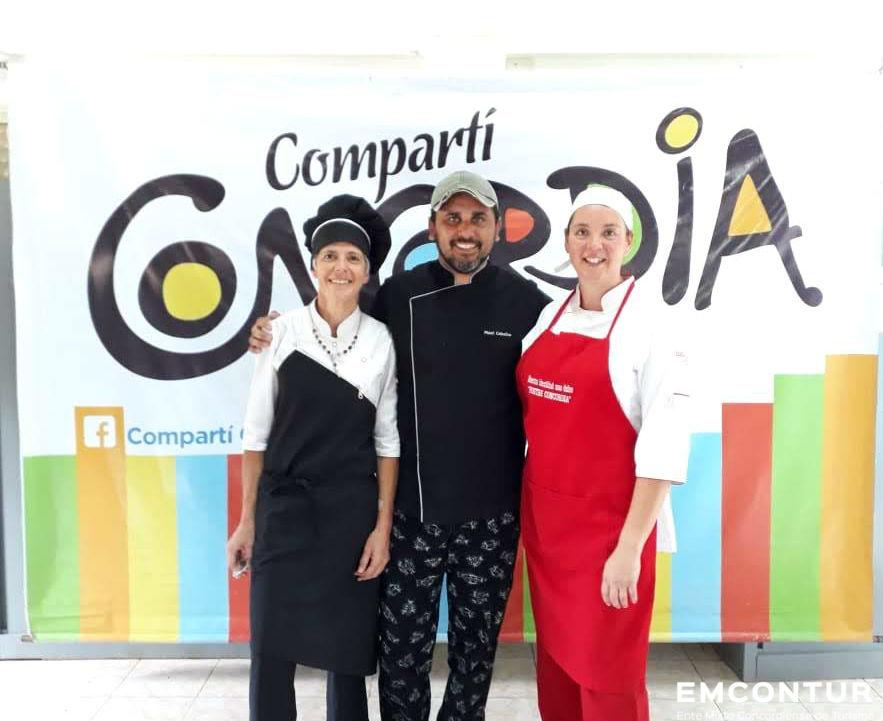 Maximiliano Ceballos, Analía Pesoa y Marisa Barral, los finalistas del concurso gastronómico.