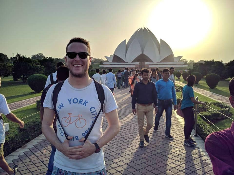 En Nueva Delhi, India, también estuvo el joven estudiantes de la UNR.