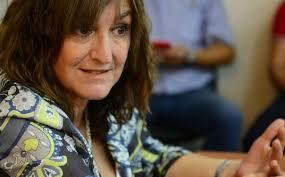 Mariela Tassistro acompañó al de Nogoyá a dialogar 10 minutos con el Papa argentino.