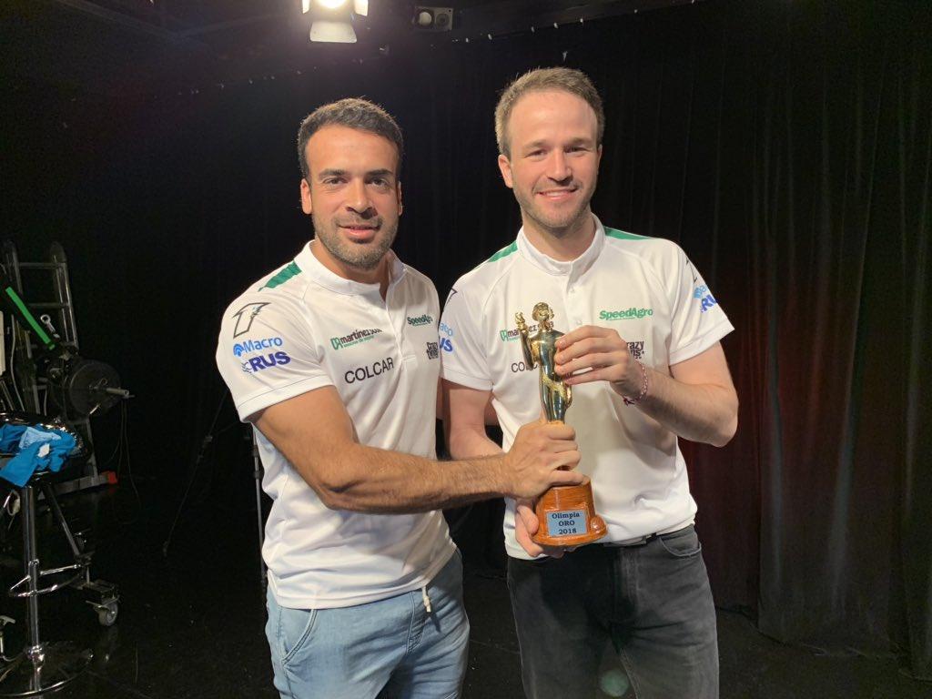 El concordiense Ponte junto a Agustín Capino, campeón de 2018.