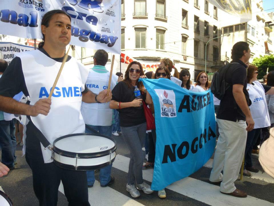 En 2013 hubo presencia entrerriana en la marcha docente realizada en Capital Federal.