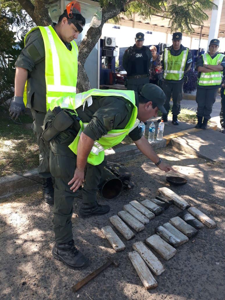Gendarmería Nacional intervino en el operativo realizado sobre la autovía de la RN14.