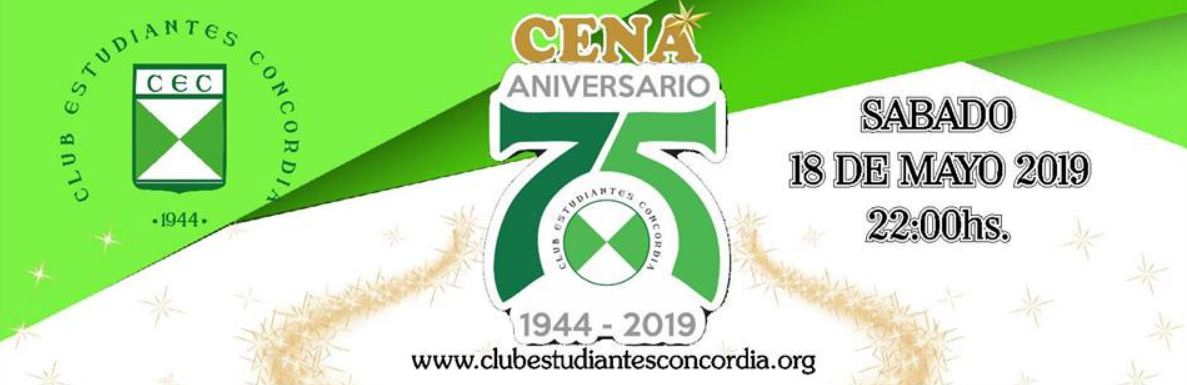 La cena que viene será en la sede del Club Estudiantes Concordia.