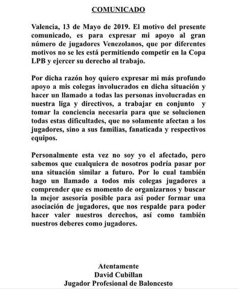 El planteo de Cubillan que reprodujo por las redes el jugador de Estudiantes Concordia.