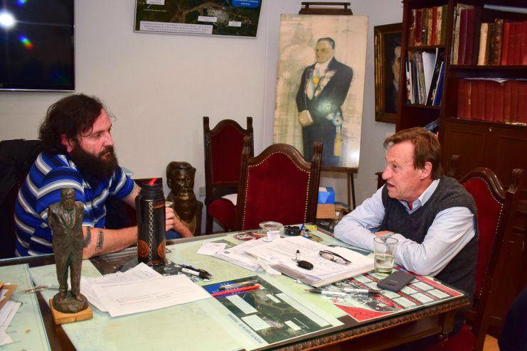 El hermano del diputado nacional kirchnerista Julio Solanas se reunió con el intendente.