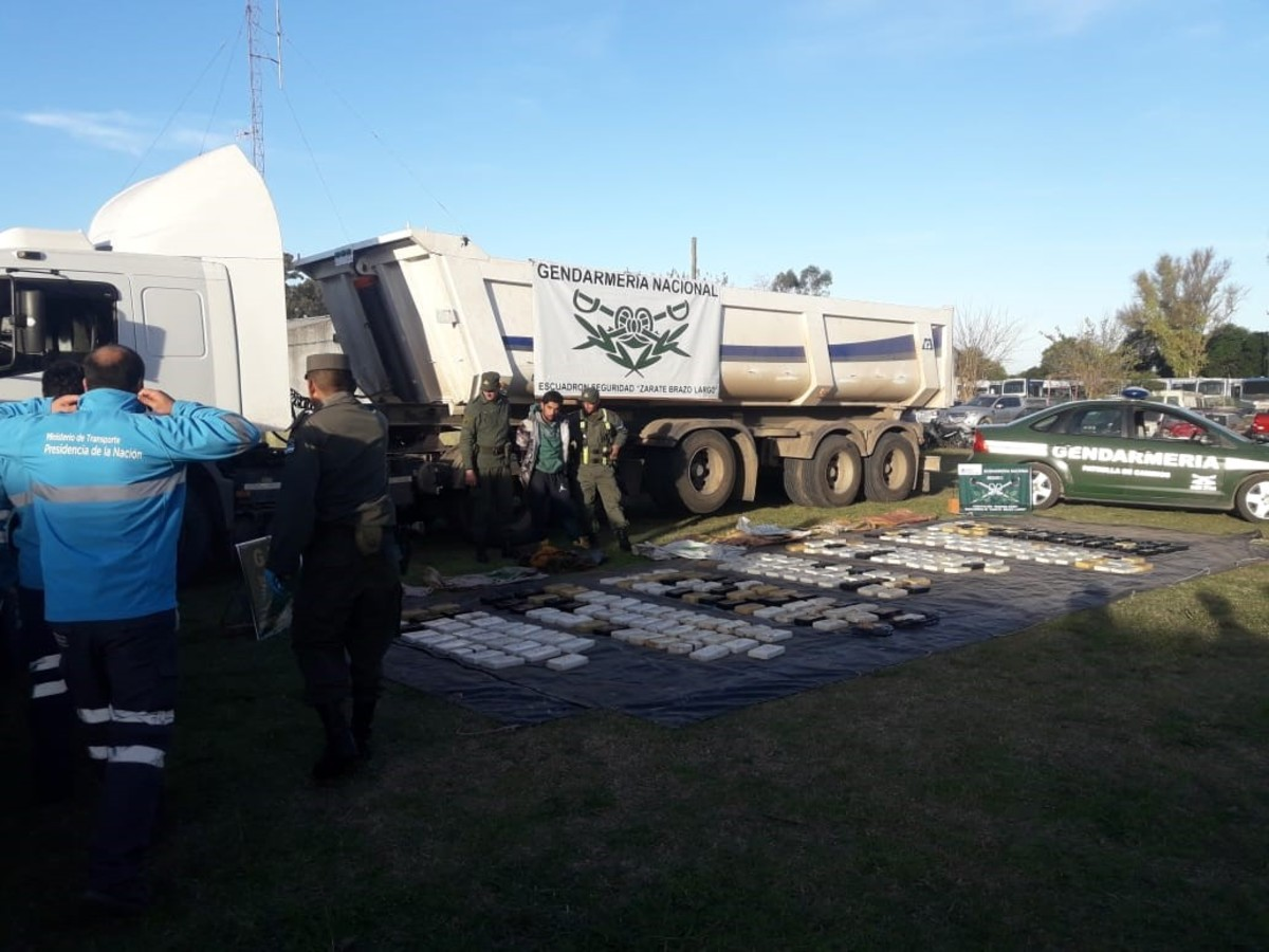El cargamento, transportado por un camionero entrerriano, tenía como destino a José C. Paz.