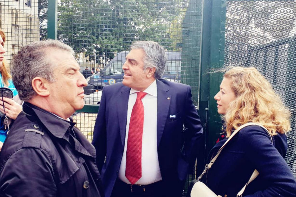 Urribarri junto con el abogado de CFK, Gregorio Dalbón