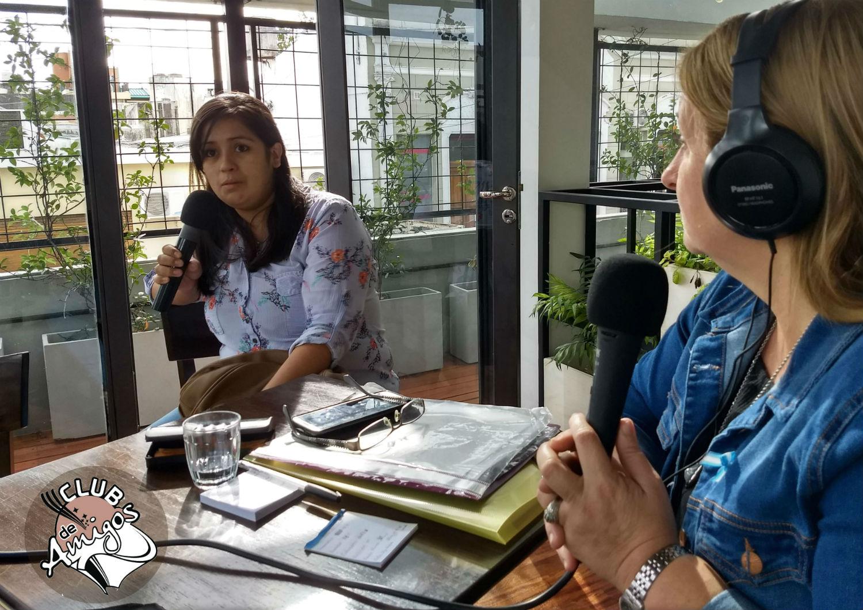 Nadia Merele contó las vivencias del merendero en la radio de El Entre Ríos en Concordia.