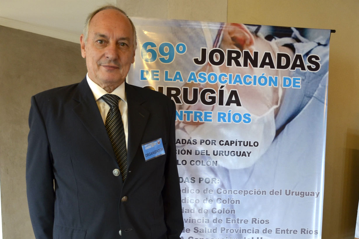 Dr. Juan Miguel Minatta, cirujano uruguayense e integrante de la comisión directiva.