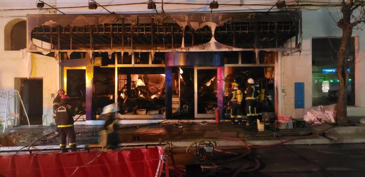 Daños totales en el local comercial de Marquez (foto: Daiana Robol).