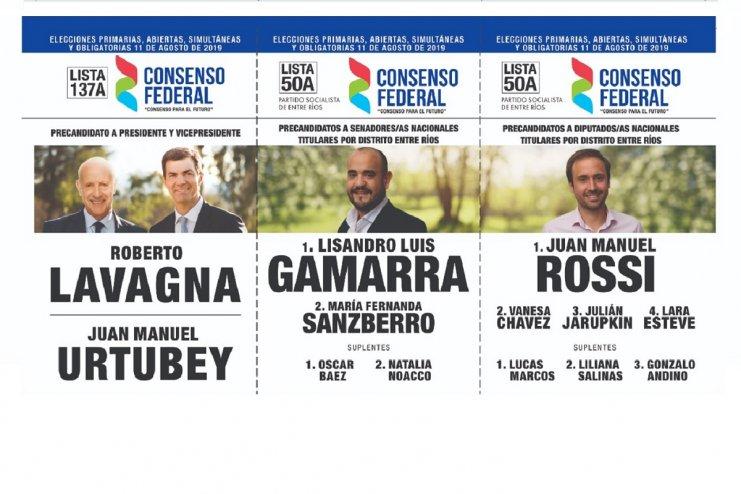 Aquí está la boleta que también competirá en la interna de Entre Ríos.
