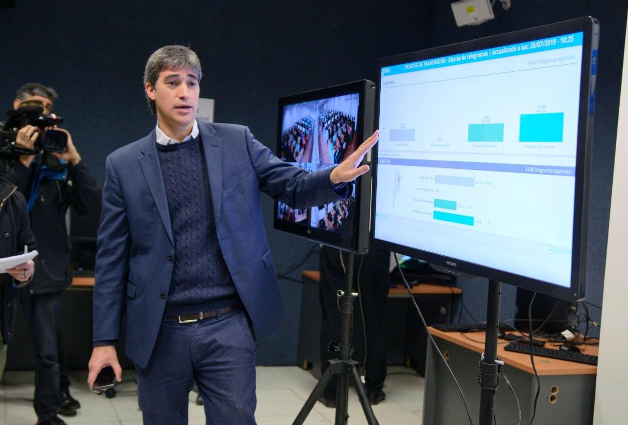 Adrián Pérez encabezó el simulacro realizado este sábado.