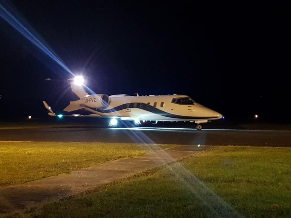 Esa fue la aeronave que por poco más de 3 horas estuvo en Concordia, clave para llevar órganos ablacionados a Buenos Aires.