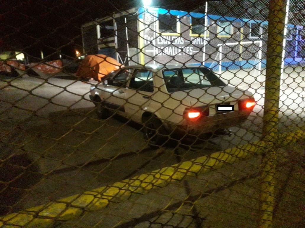 El auto del hombre asaltado