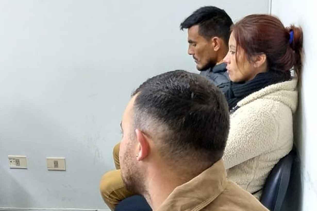 Muñoz (al fondo) en la audiencia de este miércoles en Tribunales