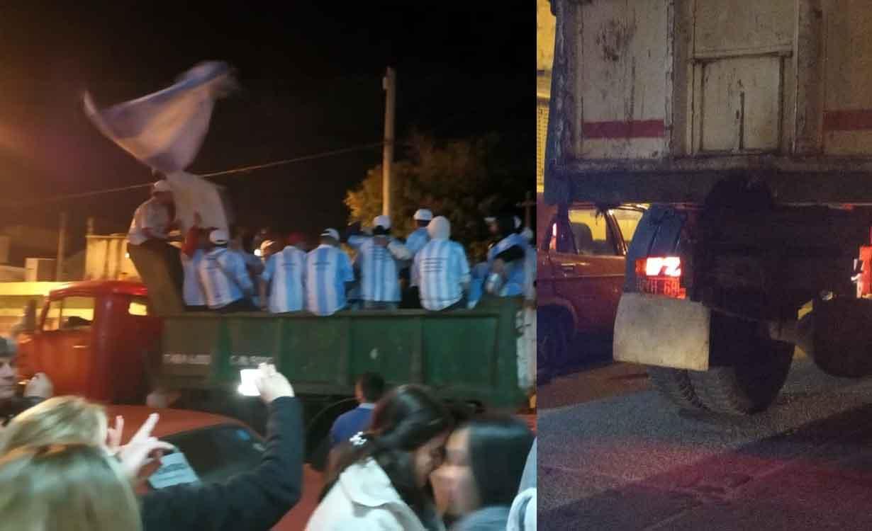 El camión patente VYH 688 que Ifran le alquila al municipio