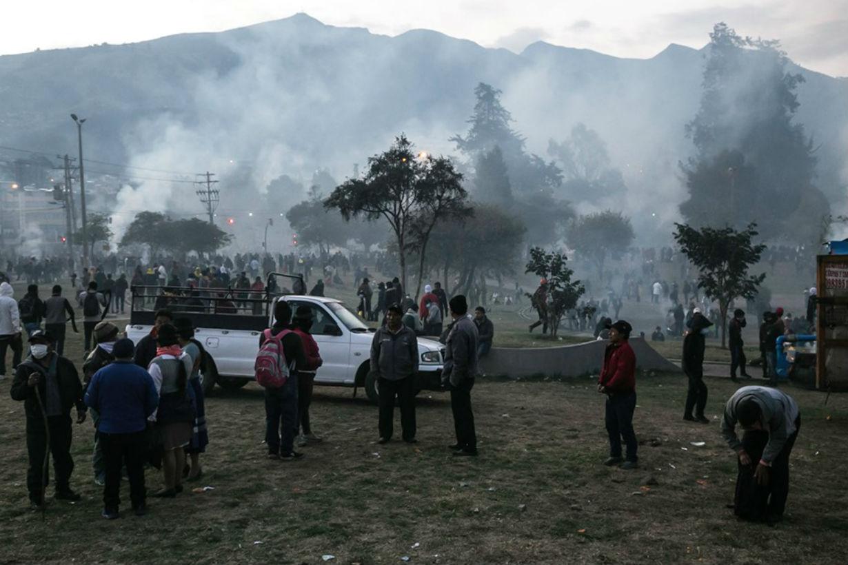 Las agrupaciones, en día de protesta. Crédito: Revista Crisis.