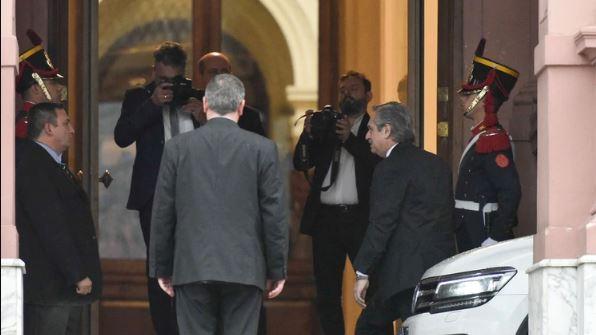 Por primera vez, Fernández ingresa a Casa Rosada como presidente electo