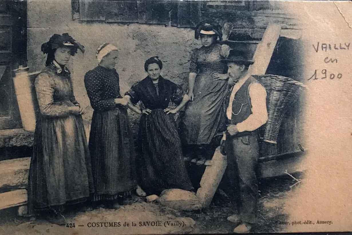 Suizos de Vailly, hacia 1900. Varios migraron a Entre Ríos