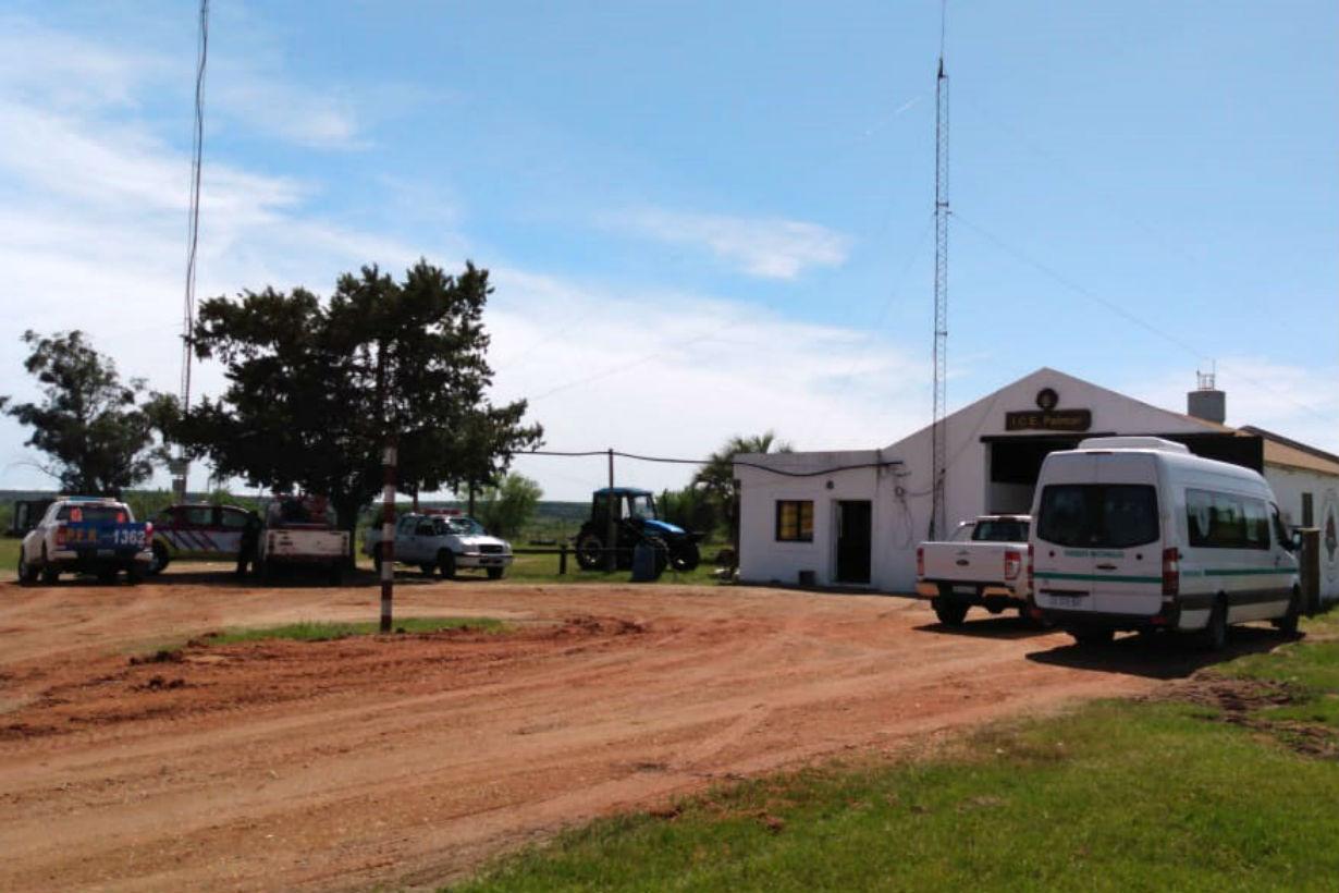 Centro de operaciones montado en el parque nacional para su búsqueda.
