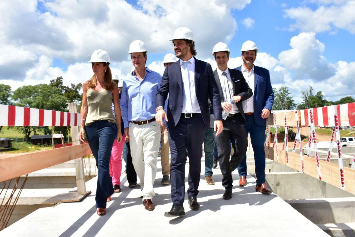 La imagen oficial: así desde Concordia divulgaron la visita a la Planta Potabilizadora.