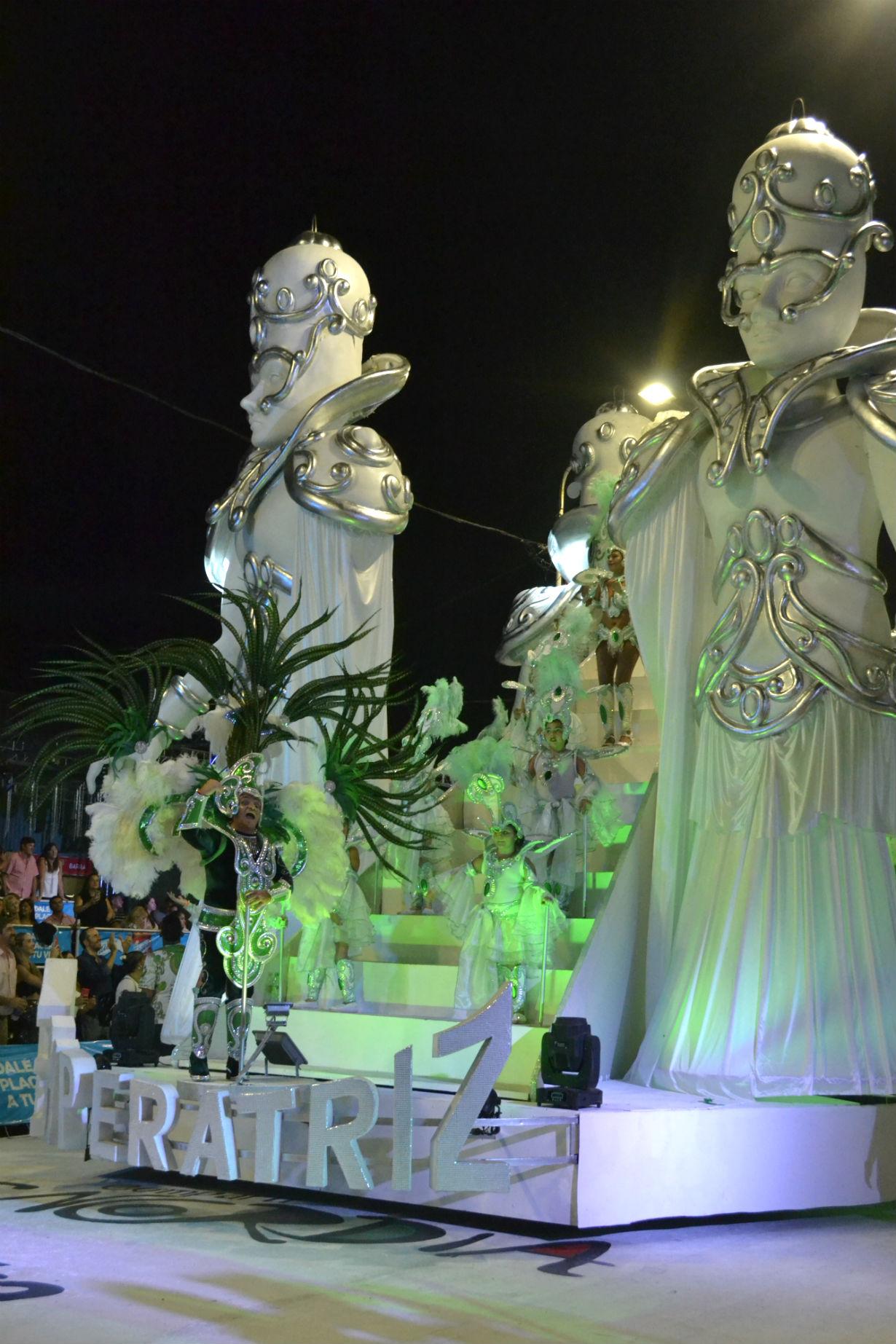 Así estaba la estructura en el desfile anterior. Foto: El Entre Ríos
