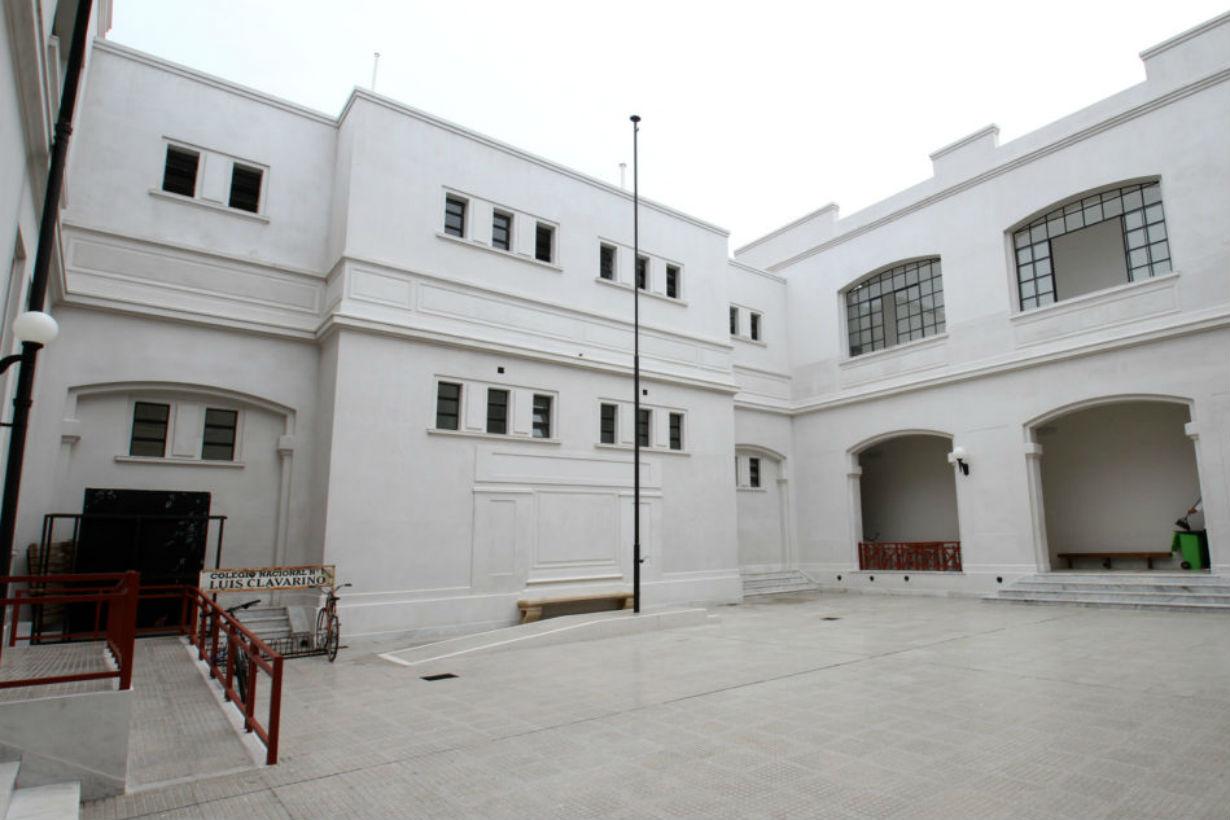 El renovado patio del Colegio Nacional de Gualeguaychú recibiría a Bordet el 2 de marzo.