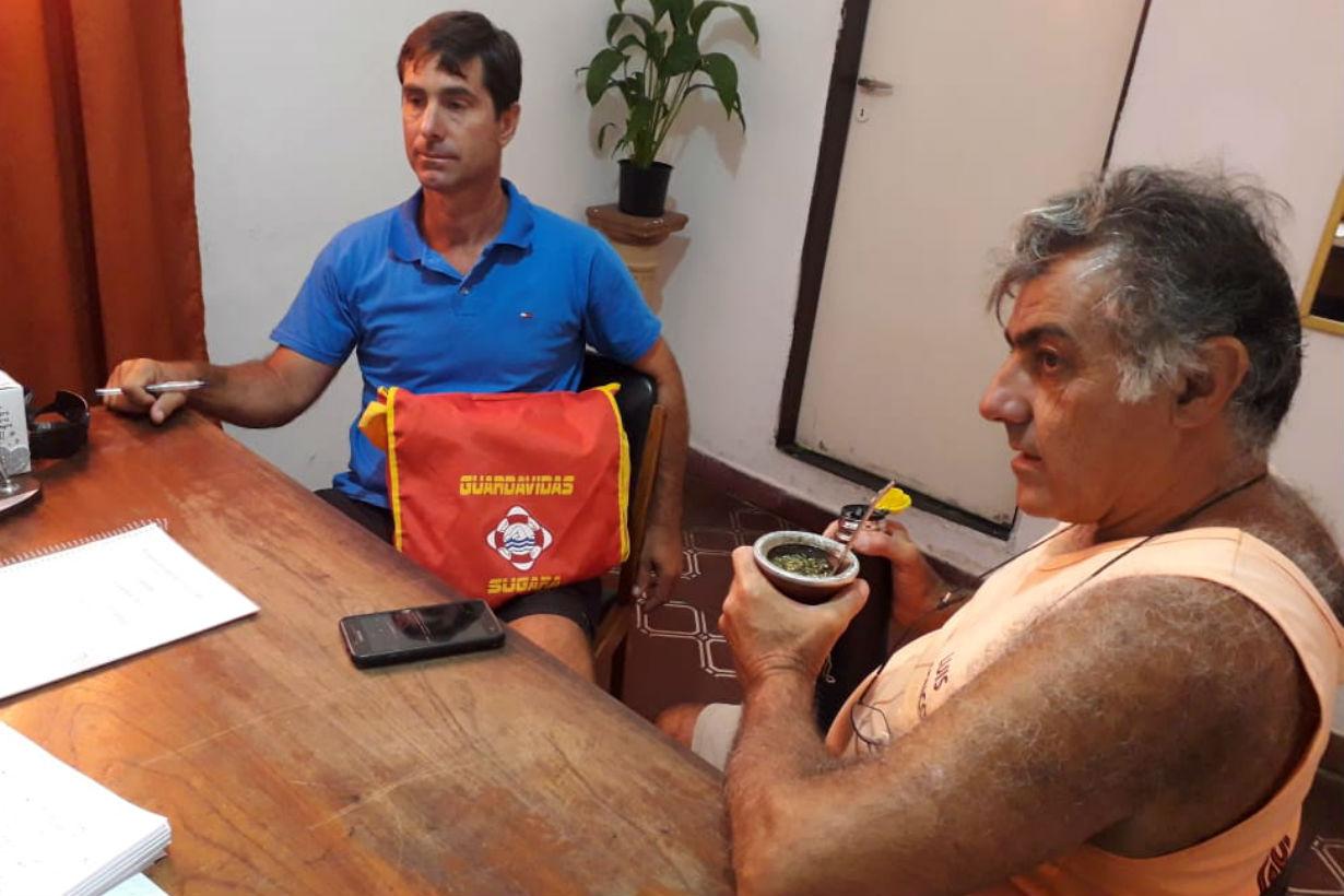 Tricarique y Penco, delegados de SUGARA Concordia.