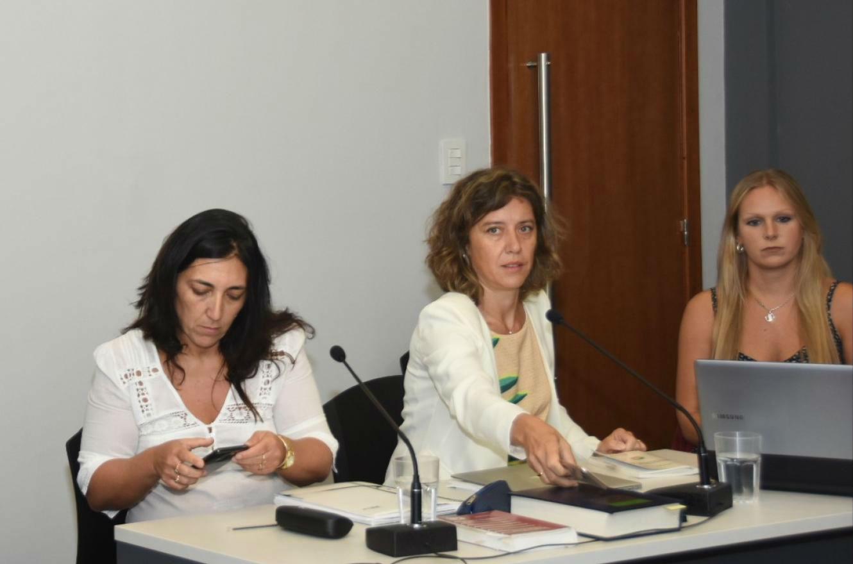 De izquierda a derecha, las fiscales Patricia Yedro y Cecilia Goyeneche formularon los pedidos de pena