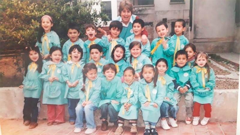 Lila con sus alumnos