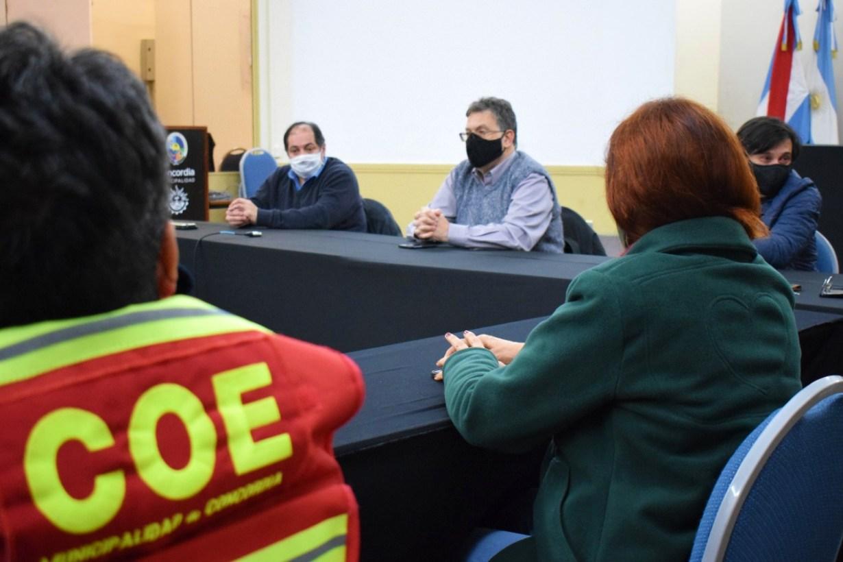 Anoche hubo reunión en la Municipalidad de Concordia del COES local.