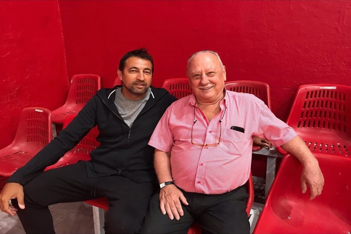 Romay -impulsor del proyecto- y Carlos Delasoie, por entonces presidente de La Unión.