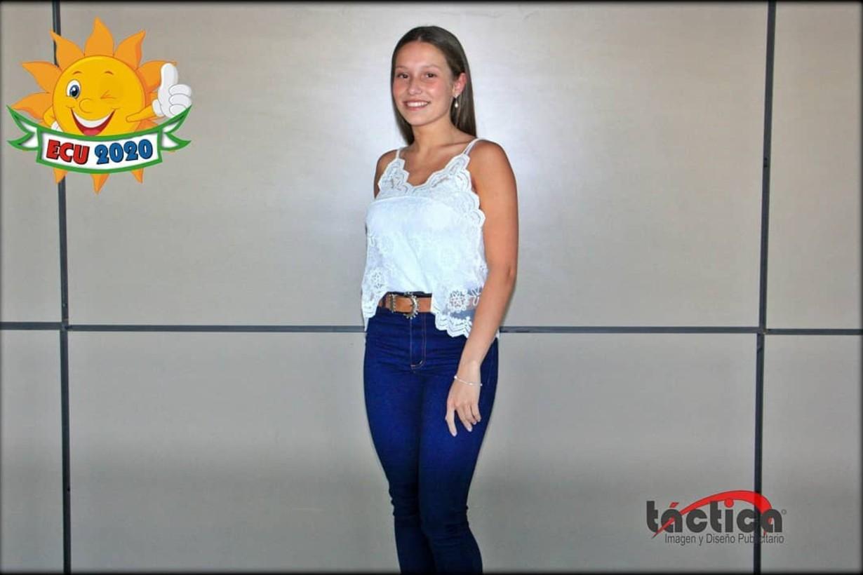 Camila Pelichero, primera princesa de la edición 2020 de la fiesta de ECU.