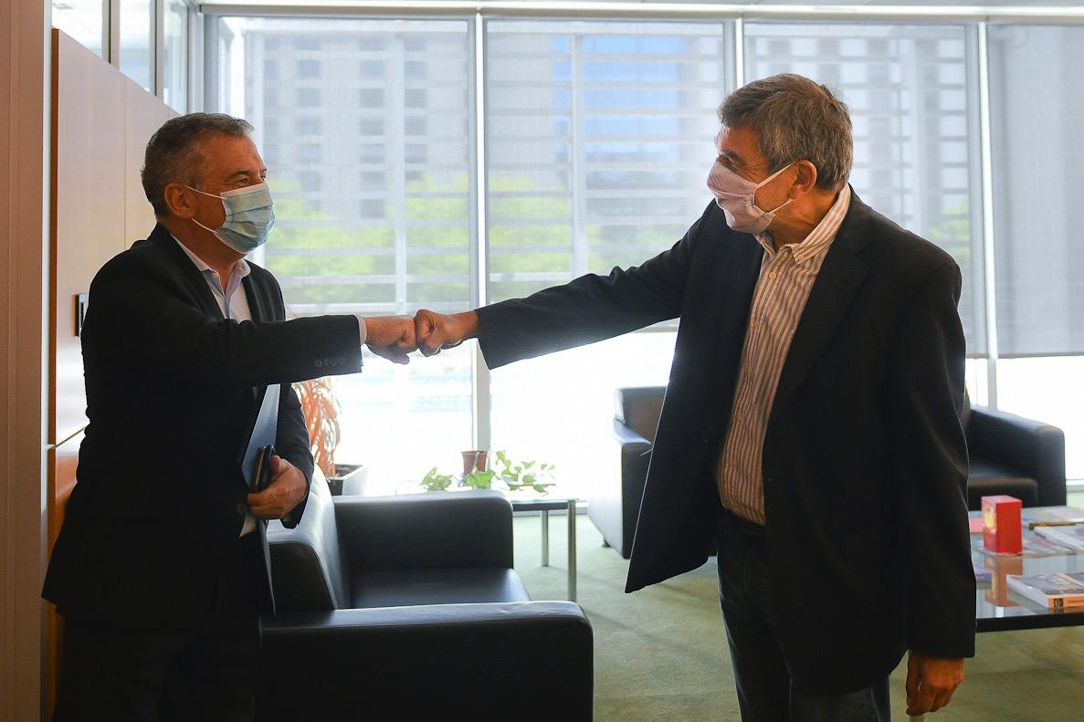 Urribarri y el ministro Salvarezza