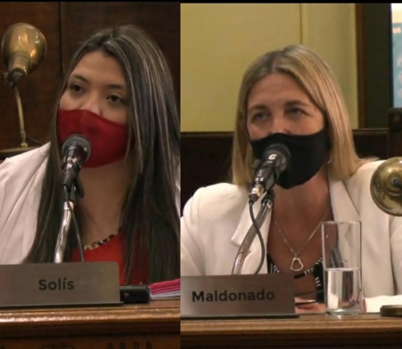Las concejales que presentaron el proyecto