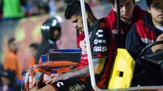 La terrible lesión de Gustavo Bou frente a Pumas