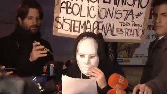 Feinmann, sacado por la marcha feminista que pidió la libertad de Nahir Galarza