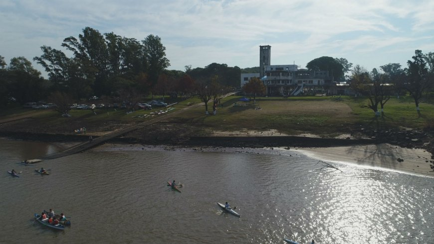 La procesión náutica del Club Regatas, vista desde el drone