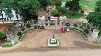 Vista aérea del Parque Quirós: así se prepara Colón para la Fiesta de la Artesanía