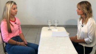 Nahir Galarza, entrevistada por Canal 13