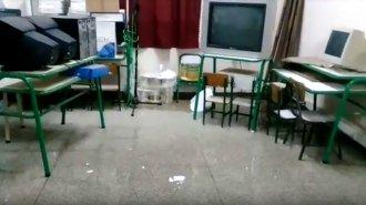 Llueve en la sala de informática de una escuela entrerriana