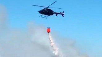 Sigue la lucha contra el fuego en el Delta entrerriano