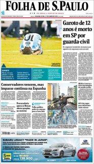 Ampliar tapa: Folha de S. Paulo