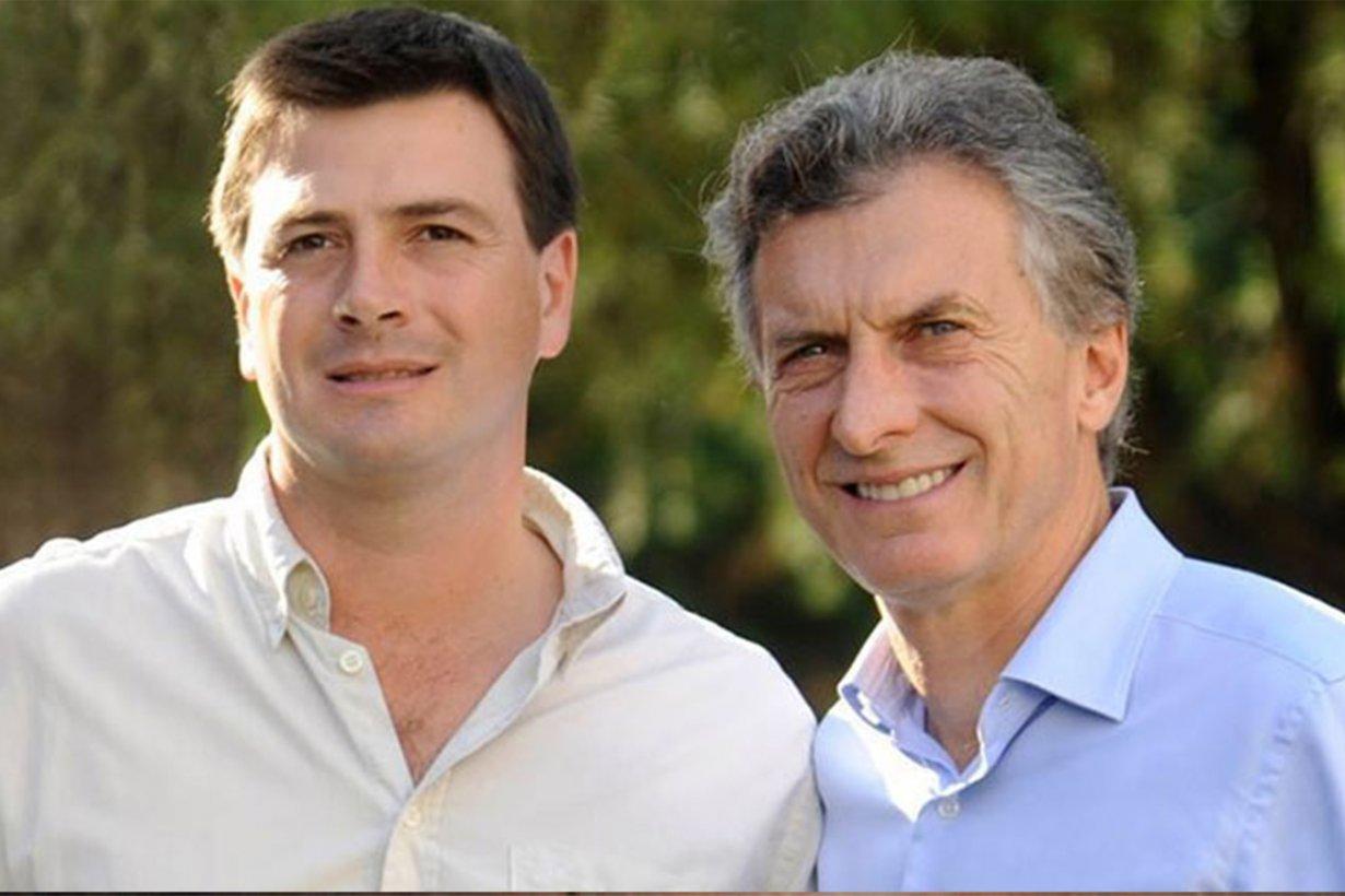 Francisco Morchio junto a Mauricio Macri