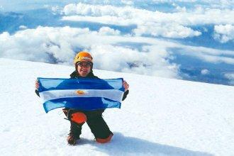 Entrerriana escaló hasta la cima de un volcán de 3.747 metros