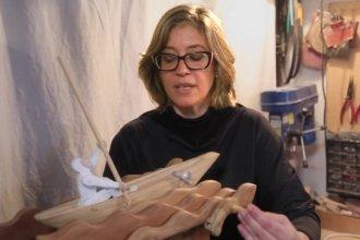 Laura, la escultora entrerriana que expondrá sus obras en Estados Unidos