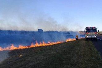 Voraz incendio de campos