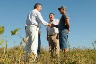 """""""Estamos cerca de los productores"""", aseguró Etchevehere en su visita a la provincia"""