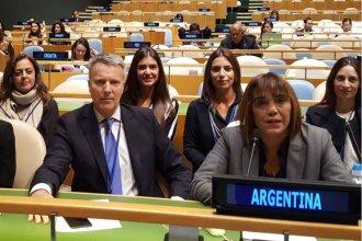 """Gayol, en la ONU """"por la igualdad entre hombres y mujeres"""""""